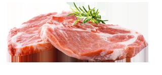 Frische Schweinenackenkoteletts